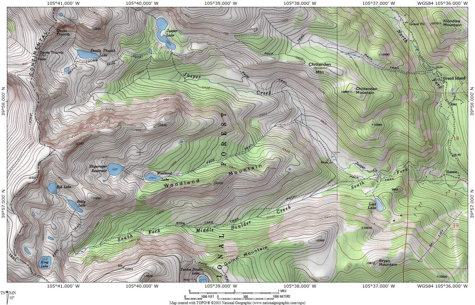 ProTrails   Devils Thumb Lake, Trail Map, Hessie Trailhead ... on mt. mitchell trail, castle rock trail, alaska trail, slick rock trail, boundary peak trail, black mountain trail, redwood creek trail, mount juneau trail, niagara gorge trail, camelback mountain trail,