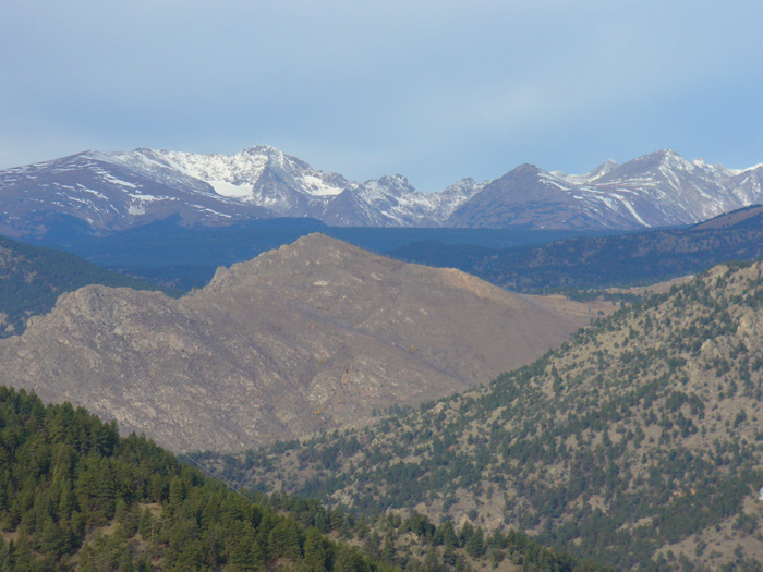 View of the Indian Peaks mountain range from the Tenderfoot Loop