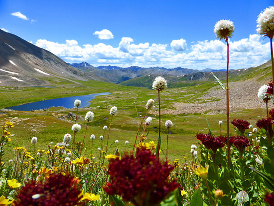 Scaling Lost Man Pass on the way to Deadman Lake