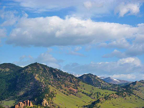 View of the Sanitas Valley from Chautauqua Park