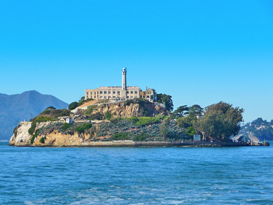 Alcatraz Island in the San Francisco Bay