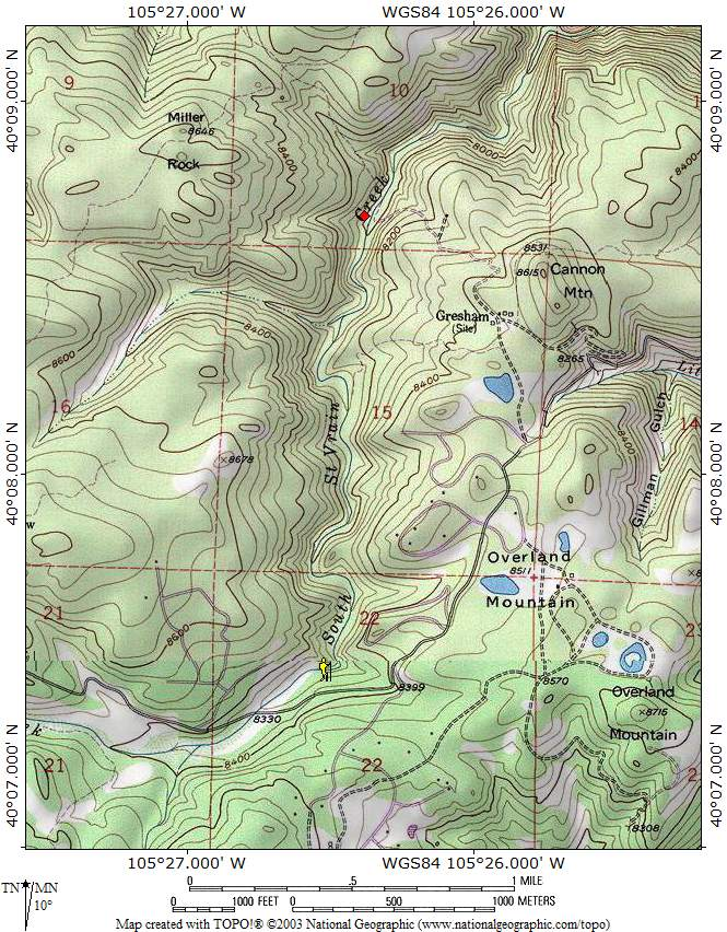 ProTrails | Ceran St  Vrain Trail, Trail Map, Ceran St