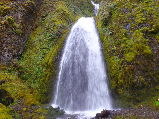 Wahkeena Falls in the Columbia River Gorge