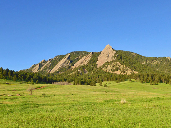 Mesa Trail runs 6.7 miles north-south along Boulder's front range