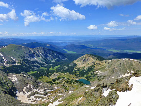 View of Julian Lake from Mt Ida (12,889')