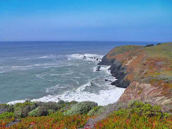 Looking North From The Bluffs Over Rodeo Beach On Coastal Trail